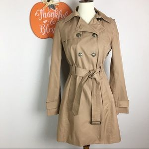 Express Classic Double Breasted Trench Coat Camel